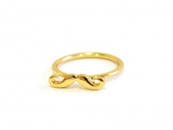 A gold-coloured moustache ring