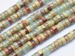 Acheter 100 perles heishi naturelles 4 mm - jaspe aquaterra - 6,49€ en ligne sur La Petite Epicerie - Loisirs créatifs