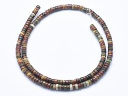 Acheter 100 perles heishi naturelles 4 mm - jaspe picasso - 4,39€ en ligne sur La Petite Epicerie - Loisirs créatifs
