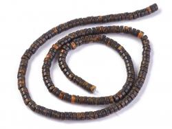 Acheter 100 perles heishi naturelles 4 mm - jaspe marron - 3,89€ en ligne sur La Petite Epicerie - Loisirs créatifs