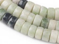 Acheter 100 perles heishi naturelles 4 mm - jade du Qinghai - 5,79€ en ligne sur La Petite Epicerie - Loisirs créatifs