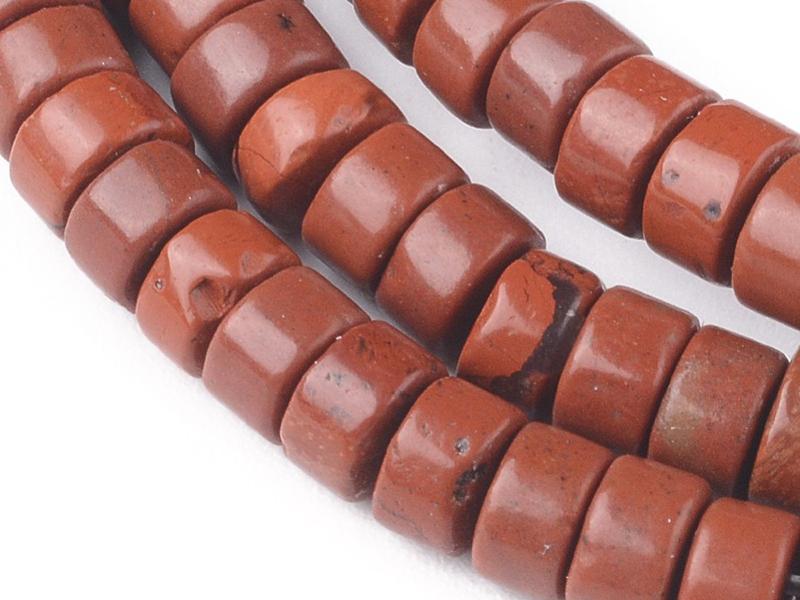 Acheter 100 perles heishi naturelles 4 mm - jaspe rouge - 5,79€ en ligne sur La Petite Epicerie - Loisirs créatifs