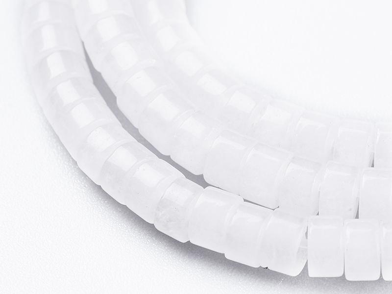 Acheter 100 perles heishi naturelles 4 mm - jade blanc - 7,49€ en ligne sur La Petite Epicerie - Loisirs créatifs