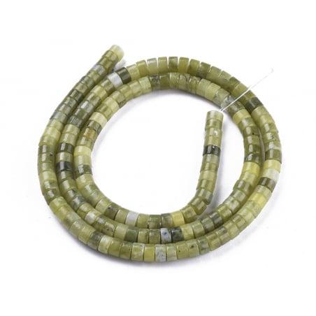 Acheter 100 perles heishi naturelles 4 mm - jade - 9,29€ en ligne sur La Petite Epicerie - Loisirs créatifs