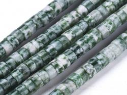Acheter 100 perles heishi naturelles 4 mm - jaspe vert - 7,49€ en ligne sur La Petite Epicerie - Loisirs créatifs