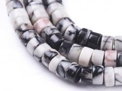 Acheter 100 perles heishi naturelles 4 mm - jaspe Netstone - 7,49€ en ligne sur La Petite Epicerie - Loisirs créatifs