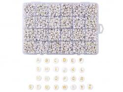 Acheter Boite de 1898 perles rondes en plastique - lettres alphabet - multicolores - 15,99€ en ligne sur La Petite Epicerie ...