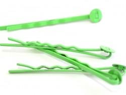 1 Haarklammernrohling - grün