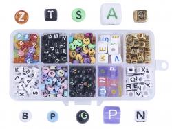 Acheter Boite de mix de perles lettres en plastique - 11,99€ en ligne sur La Petite Epicerie - Loisirs créatifs