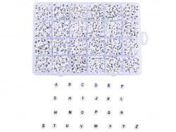 Acheter Boite de 1750 perles lettres alphabet rondes - noires et blanches - 15,99€ en ligne sur La Petite Epicerie - Loisirs...