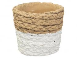 Acheter Pot pour plante - imitation cordage - 9,99€ en ligne sur La Petite Epicerie - Loisirs créatifs