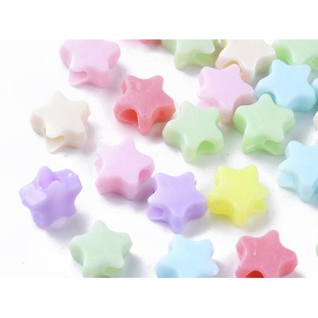Acheter 50 perles étoiles - multicolore - 3,49€ en ligne sur La Petite Epicerie - Loisirs créatifs