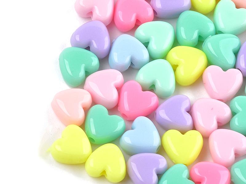 Acheter 50 perles coeurs - multicolore - 4,99€ en ligne sur La Petite Epicerie - Loisirs créatifs