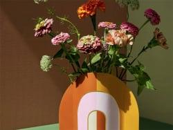 Acheter Grand vase en papier Octaevo - Riviera arc-en-ciel - 19,49€ en ligne sur La Petite Epicerie - Loisirs créatifs