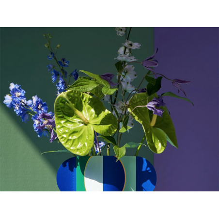 Acheter Grand vase en papier Octaevo - Riviera bleu - 19,49€ en ligne sur La Petite Epicerie - Loisirs créatifs