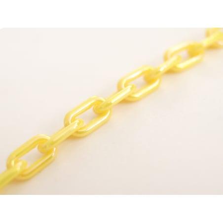 Acheter Chaîne en acrylique nacrée - 13 x 8 mm - jaune nacré x 50 cm - 1,59€ en ligne sur La Petite Epicerie - Loisirs créatifs