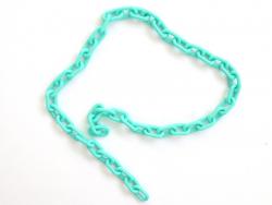 Acheter Chaîne en acrylique - 13 x 8 mm - bleu / vert turquoise x 38 cm - 0,99€ en ligne sur La Petite Epicerie - Loisirs cr...