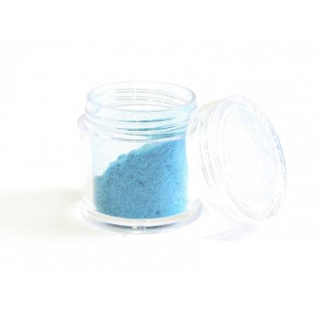 Faux sucre velours pour barbapapa - bleu turquoise
