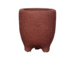 Acheter Pot pour plante à pieds - bordeaux 9,5 cm - 5,99€ en ligne sur La Petite Epicerie - Loisirs créatifs