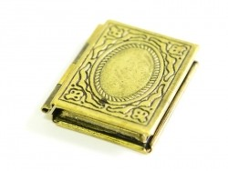 1 portrait book charm - bronze-coloured