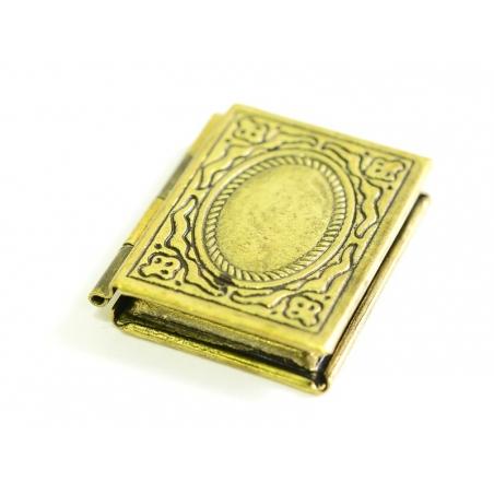 1 portrait book charm - bronze-coloured