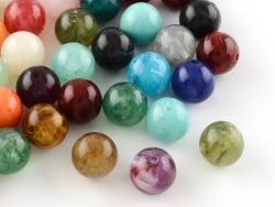 Acheter 50 perles en plastique imitation pierres naturelles - multicolore - 8 mm - 6,99€ en ligne sur La Petite Epicerie - L...