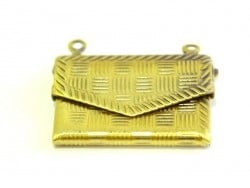1 patterned envelope charm - bronze-coloured