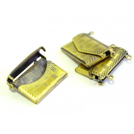 Acheter 1 breloque enveloppe à motif - couleur bronze - 3,50€ en ligne sur La Petite Epicerie - Loisirs créatifs