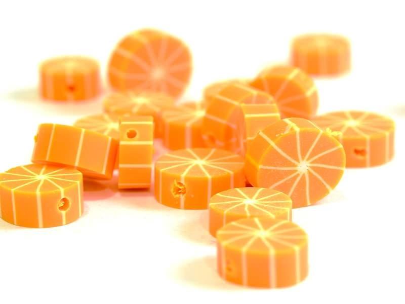 20 perles oranges pelées