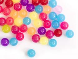 Acheter 100 perles en plastiques rondes - transclucides multicolores - 8 mm - 3,99€ en ligne sur La Petite Epicerie - Loisir...