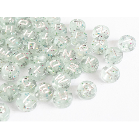 Acheter Lot de 200 perles rondes à paillettes - Lettres alphabet argentés - 4,49€ en ligne sur La Petite Epicerie - Loisirs ...