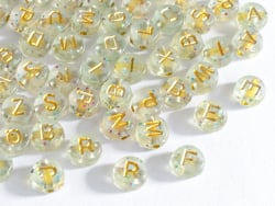 Acheter Lot de 200 perles rondes à paillettes - Lettres alphabet dorées - 4,49€ en ligne sur La Petite Epicerie - Loisirs cr...