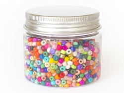 Acheter Pot de 60 grammes de perles de rocailles 3mm - multicolores - 3,99€ en ligne sur La Petite Epicerie - Loisirs créatifs
