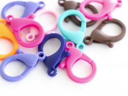Acheter 10 fermoirs mousqueton en plastique - multicolore - 35 mm - 5,99€ en ligne sur La Petite Epicerie - Loisirs créatifs