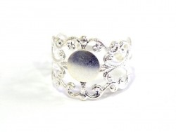 1 light silver-coloured openwork ring blank