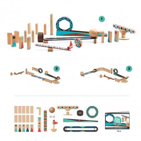 Acheter Jeu de réaction en chaîne - Zig & Go - Roll - 28 pcs - 32,99€ en ligne sur La Petite Epicerie - Loisirs créatifs