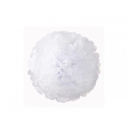 Tissue paper pom-pom (20 cm) - white