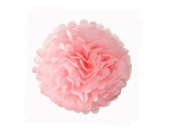 Pompon en papier de soie 20 cm - rose pétale