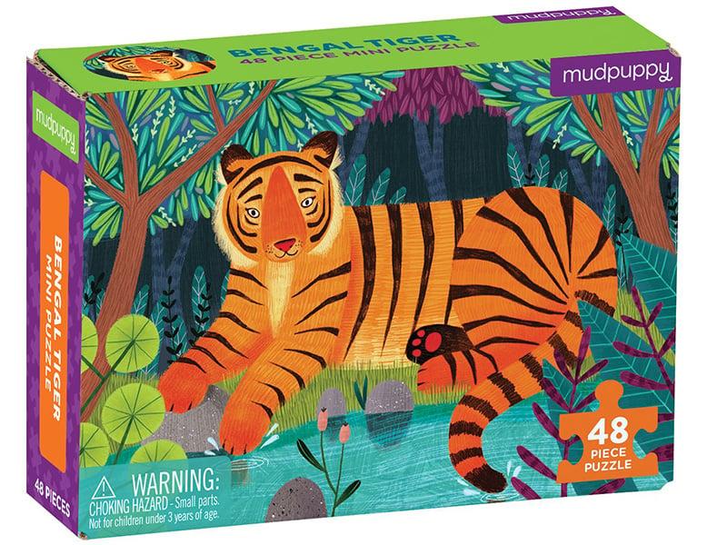 Acheter Puzzle 48 pièces - Tigre du Bengal - 6,99€ en ligne sur La Petite Epicerie - Loisirs créatifs