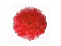 Pompon en papier de soie 20 cm - rouge coquelicot