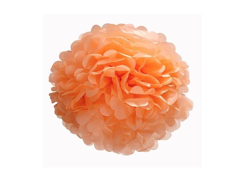 pompon en papier de soie 20 cm orange d co do it yourself. Black Bedroom Furniture Sets. Home Design Ideas