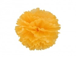 Pompon en papier de soie 20 cm - jaune d'or