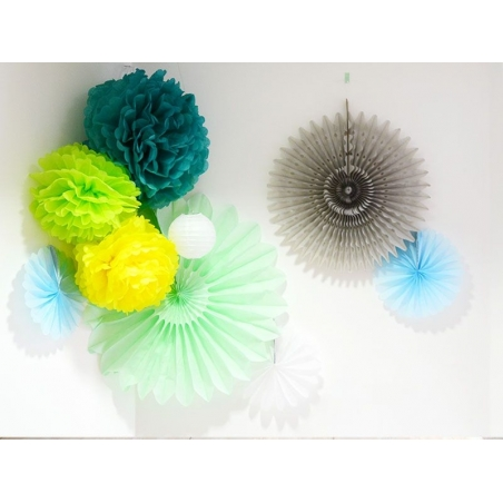 Tissue paper pom-pom (20 cm) - golden yellow