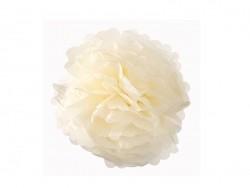 Pompon en papier de soie 20 cm - ivoire