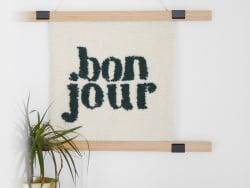 Acheter Kit DIY punch needle - Bonjour - 49,99€ en ligne sur La Petite Epicerie - Loisirs créatifs