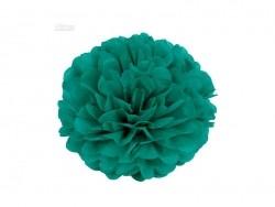 Pompon aus Seidenpapier (20 cm) - smaragdgrün