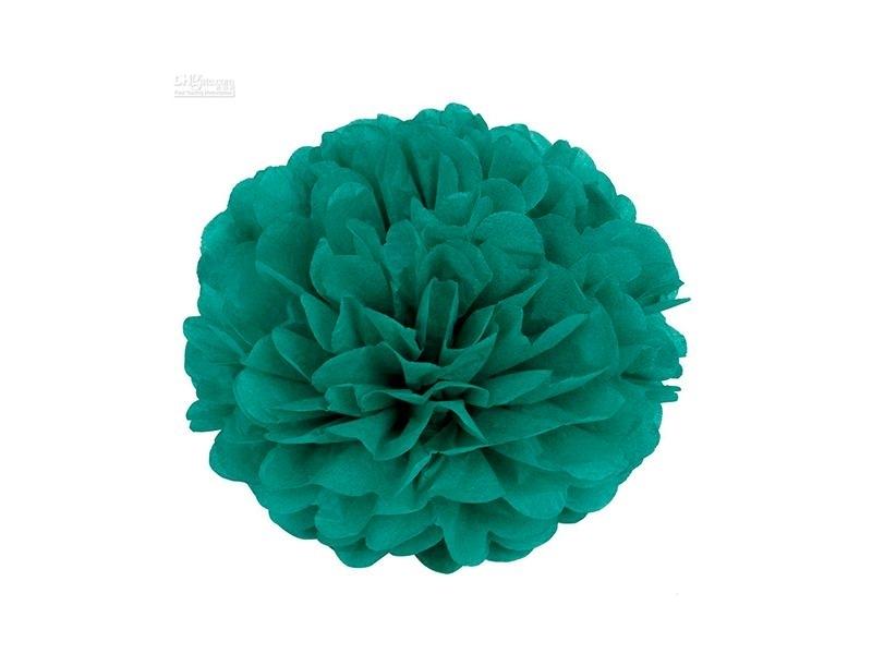 Tissue paper pom-pom (20 cm) - emerald green