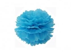 Pompon aus Seidenpapier (20 cm) - himmelblau