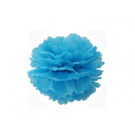 Tissue paper pom-pom (20 cm) - sky blue