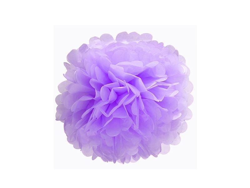 Acheter Pompon en papier de soie 20 cm - mauve  - 2,69€ en ligne sur La Petite Epicerie - Loisirs créatifs